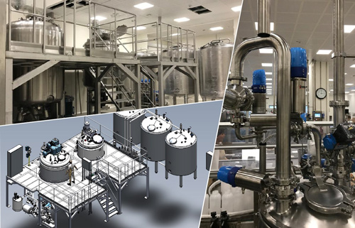 New production line for gel, shampoo and cream