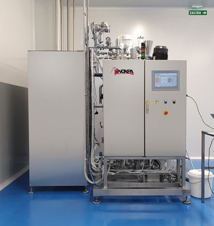 Plant for the production of hair dyes, gels and creams